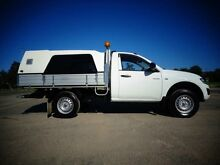 2012 Mitsubishi Triton MN MY12 GLX White 4 Speed Automatic 2D Cab Chassis Erina Gosford Area Preview
