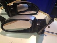 Ford Focus Manual Silver Car Wing Mirrors - DRIVERS Side
