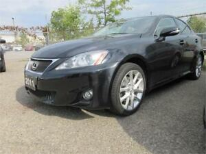 2011 Lexus IS250 Prem Pkg-LEATHR,S ROOF,AWD,LOW KM,WARANTY,15495