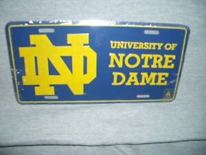 University of Notre Dame Licence Plate plus extras