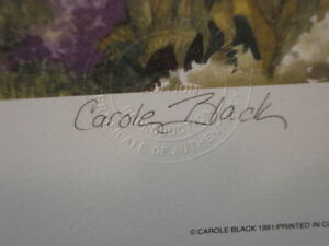Carole Black-Saturday Morning-Signed Limited Edition Print Windsor Region Ontario image 3