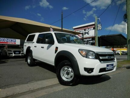 2009 Ford Ranger PK XL White 5 Speed Manual Dual Cab Southport Gold Coast City Preview