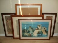 Collection of large wooden picture frames