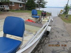 14ft aluminum boat, ezy Loadtrailer,15Hp 4strokeMercury Outboard