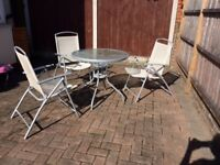 Garden table and 3 chairs - £30 the LOT!