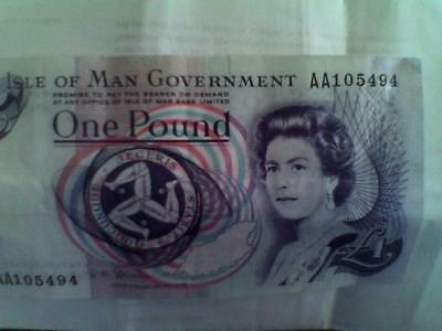 isle of man £1. bank note