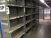 30 bays of dexion impex industrial shelving ( storage , pallet racking )