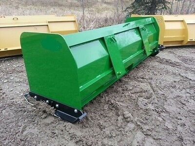 "NEW 96"" 8 SNOW BOX PUSHER PLOW BLADE JOHN DEERE COMPACT TRACTOR LOADER 200-500"