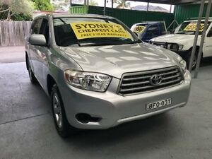 2007 Toyota Kluger GSU40R KX-R Silver 5 Speed Automatic Wagon Five Dock Canada Bay Area Preview