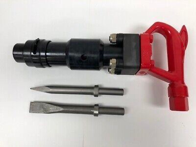 Pneumatic Air 4 Bolt Chipping Hammer Ch3rrd 2 Bits