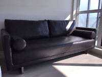 BRAND NEW Dark Grey Leather Couch
