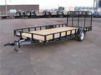 2015 SINGLE AXLE UTILITY TRAILER 12FT W/GATE (3500 LB GVW)