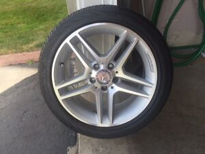 17 Inch REAR Mercedes-Benz AMG rims and tires for sale