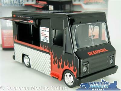 DEADPOOL TACO TRUCK VAN MODEL 1:32 SIZE JADA 30864 BLACK SNACK CATERING MOVIE T3
