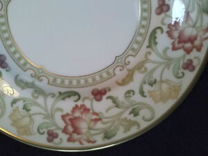 "Royal Doulton ""Lichfield"" Gold rimed plates and bowls"
