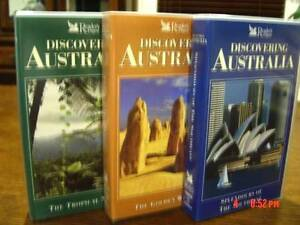 MINT. 3 x DISCOVERING AUSTRALIA VHS Set - (NEW) Point Cook Wyndham Area Preview