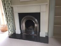 Cast Iron open fire insert, timber mantel (and possibly slate hearth)