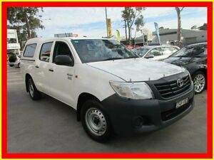 2012 Toyota Hilux TGN16R MY12 Workmate White 4 Speed Automatic 4D UTILITY North Parramatta Parramatta Area Preview