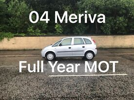 £795 2004 Vauxhall Meriva 1.6l* like astra focus cmax megane civic scenic vectra mondeo