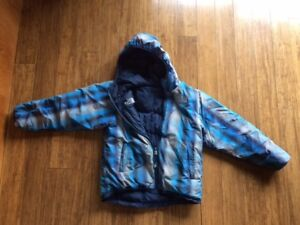 Boys' North Face Down Jacket, Size 10, reversible