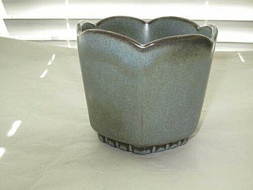 Frankoma #37 Footed Planter Bowl Vase Blue-Green Woodland Moss