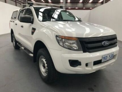 2014 Ford Ranger PX XL 2.2 HI-Rider (4x2) White 6 Speed Automatic Crew Cab Pickup Fyshwick South Canberra Preview
