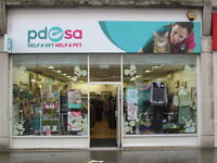 Enthusiastic PDSA charity shop team looking for new volunteers
