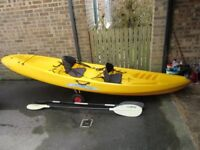 Ocean Kayak Malibu Two sit on kayak in excellent condition with delux seats and trolley