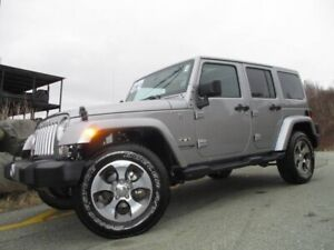 2018 Jeep Wrangler JK UNLIMITED SAHARA (HEATED LEATHER, NAV, B/T