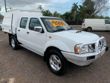 2008 Nissan Navara D22 STR White 5 Speed Manual Dual Cab Holtze Litchfield Area Preview