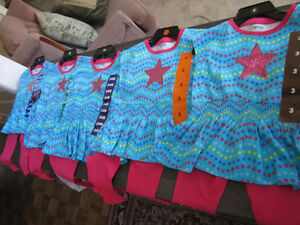 "Beautiful Little Girls 2-piece ""Pekkle"" outfits..brand new with"
