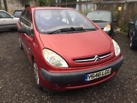 Cheap car of the day 2001 Citroen xsara Picasso, starts and drives, MOT until February 2017, could d