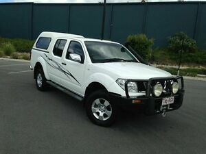 2007 Nissan Navara D40 ST-X White 5 Speed Automatic Dual Cab Arundel Gold Coast City Preview