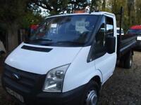 2013 Ford Transit 2.2TDC SINGLE CAB TIPPER/PICK UP 350 LWB NO VAT GENUINE MILES