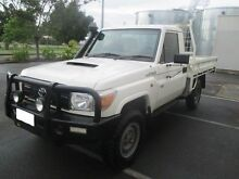 2013 Toyota Landcruiser VDJ79R MY12 Update Workmate (4x4) White 5 Speed Manual Cab Chassis Morley Bayswater Area Preview