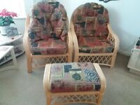 SOLD SOLD furniture set conservatory garden cane bamboo