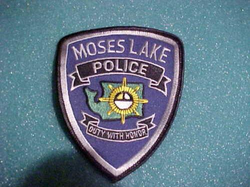 MOSES LAKE WASHINGTON POLICE PATCH SHOULDER SIZE UNUSED