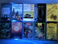 4x TCHAIKOVSKY, 4x MOZART & 2x SCHUMANN PRERECORDED CASSETTE TAPE ALBUMS ALL JUST 50p EACH. More2cum