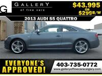 2013 Audi S5 Quattro $299 bi-weekly APPLY NOW DRIVE NOW