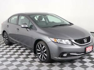 2013 Honda Civic Sdn Touring w/Heated Leather Seats-Sunroof-Blue