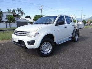 2011 Mitsubishi Triton MN MY11 GLX (4x4) White 4 Speed Automatic 4x4 Dual Cab Utility Bungalow Cairns City Preview