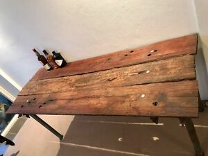 Custom designed hand crafted hardwood bench, desk, hallway stand Manly Manly Area Preview