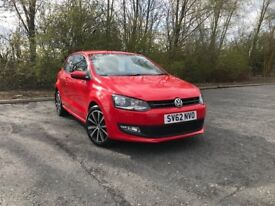 2012 VOLKSWAGEN POLO 1.4 MATCH RED PETROL MOT ONE YEAR GREAT CAR MUST SEE £5495 OLDMELDRUM