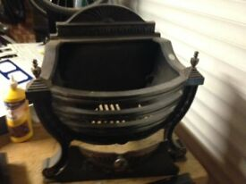 Victorian style firebasket and Magiglow gas fittings/controller