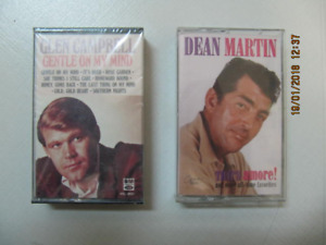 Dean Martin & Glen Campbell Two Audio Cassette Classics 4 One!!!