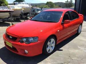 2007 Ford Falcon BF Mk II XR6 Red Sports Automatic Sedan Boolaroo Lake Macquarie Area Preview
