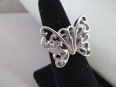 Ring Size 6 Cut Out Butterfly Design Stainless Steel New Polished Womens Fashion Cut Out Butterfly Ring