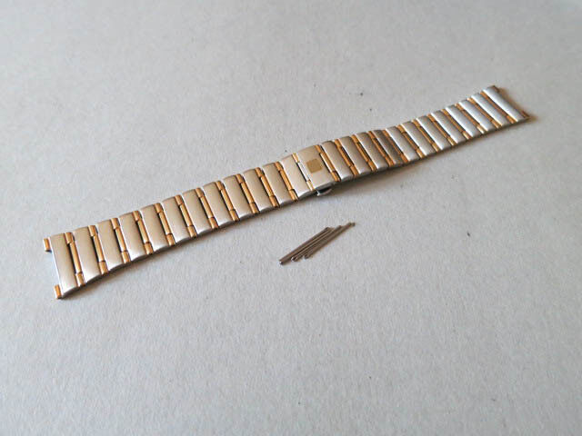 17mm Gold & Stainless Steel Watch Constellation Band Compatible With Omega