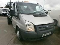 Ford Transit T350 MWB 100ps Tdci Tipper Single Cab DIESEL MANUAL SILVER (2013)