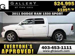 2011 DODGE RAM SPORT CREW *EVERYONE APPROVED* $0 DOWN $199/BW!